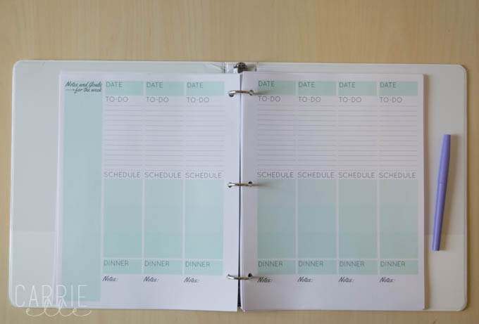 Weekly Printable Planning Pages