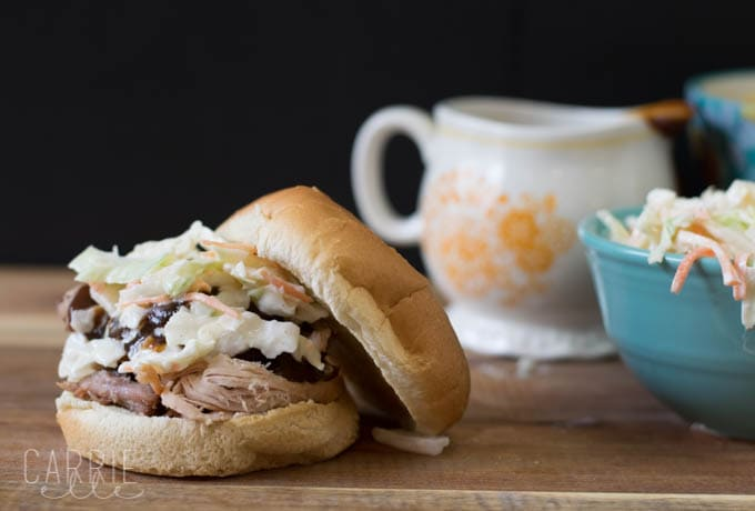 Crock Pot Root Beer Pulled Pork Sandwiches