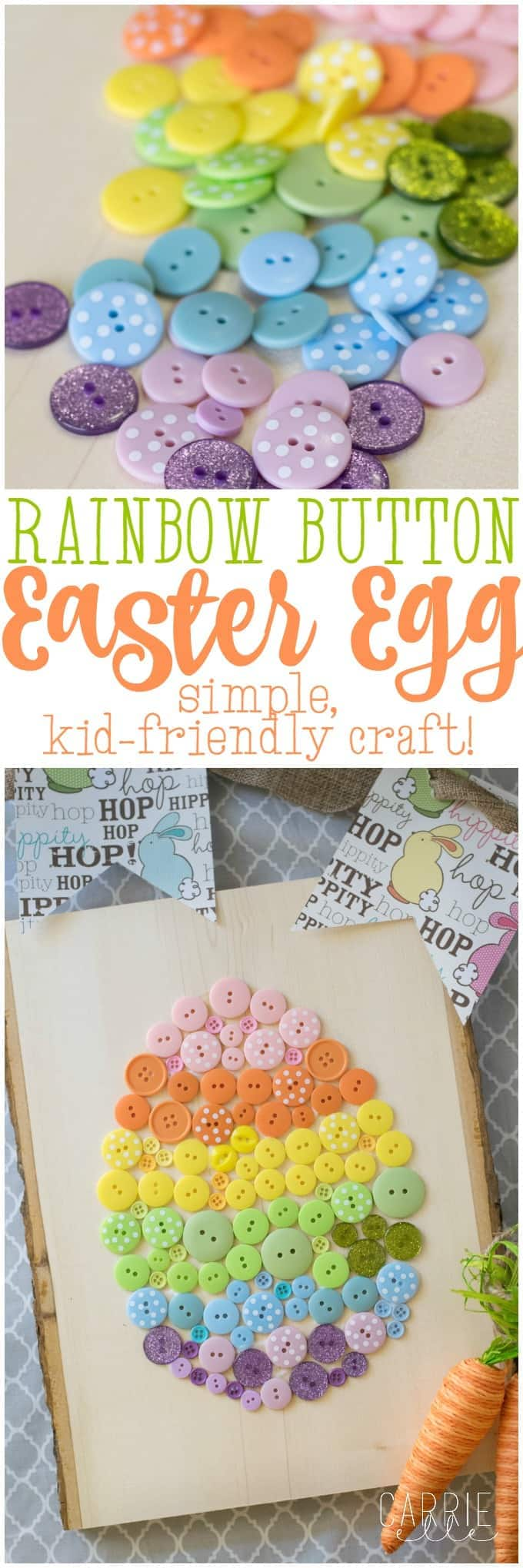 Easy Easter Craft Button Easter Egg