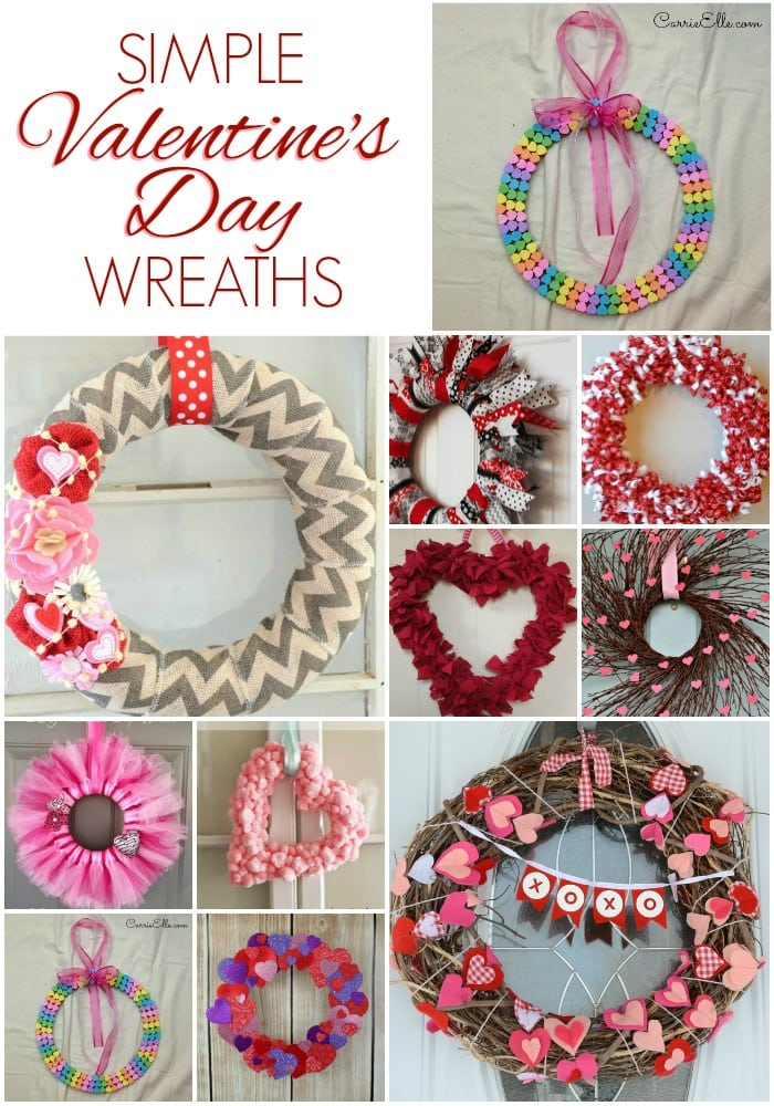 Simple Valentine's Day Wreaths