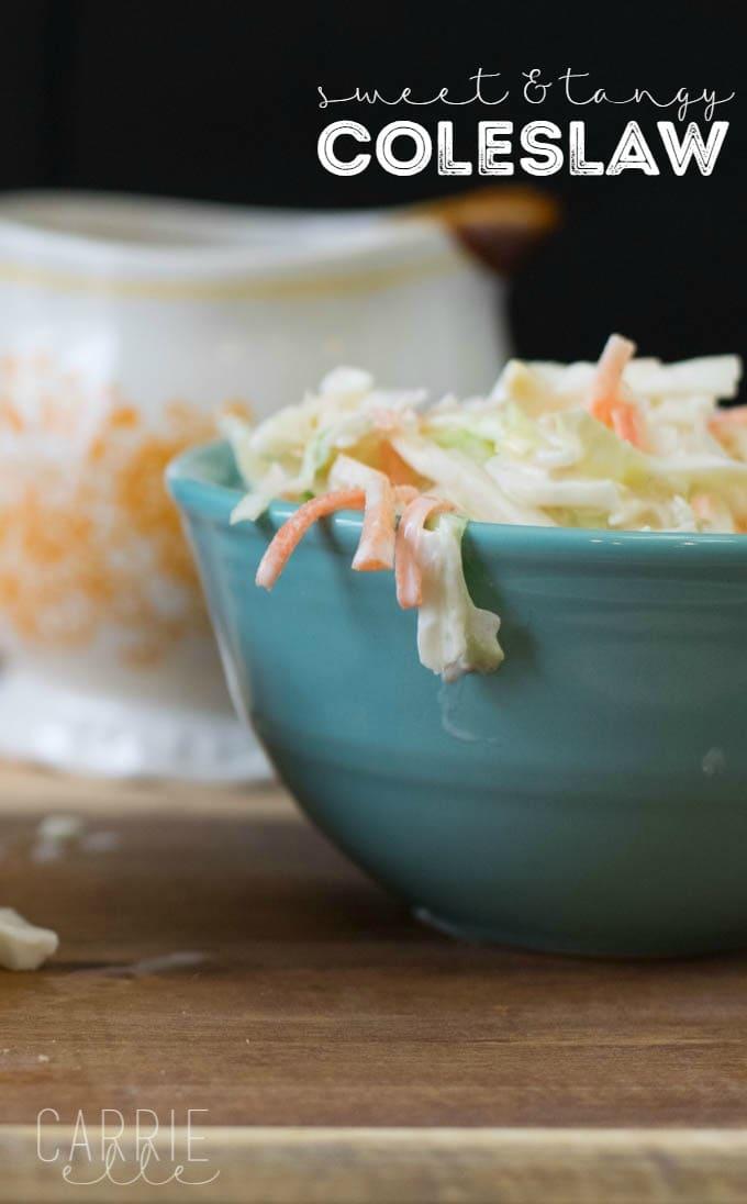 Sweet & Tangy Coleslaw Recipe