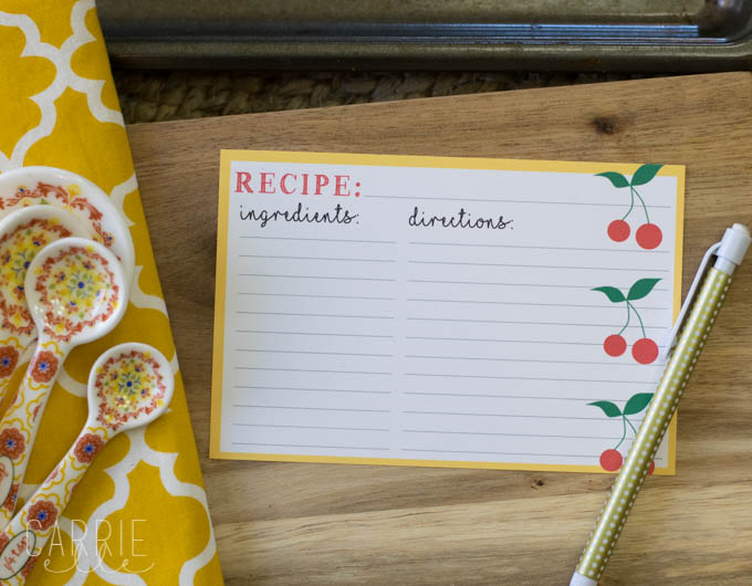 Free Printable Recipe Card {with a Cherry on Top!}