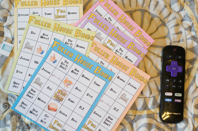 Printable Fuller House Bingo Game