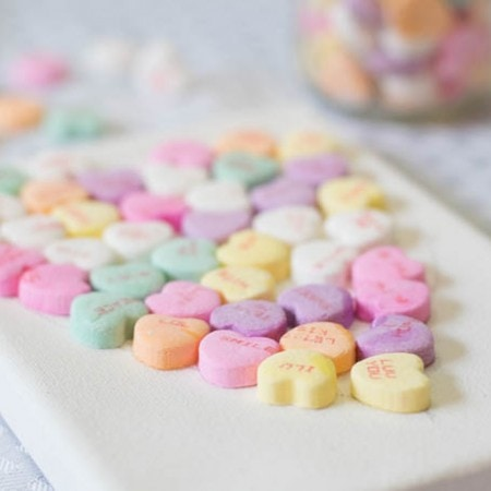 Easy Candy Heart Craft