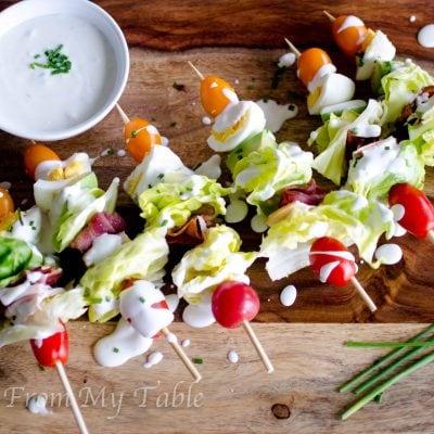Cobb Salad on a Stick {homemade dressing}