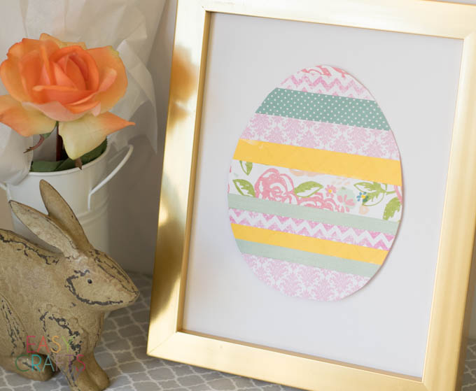 Easy Scrapbook Paper Easter Egg