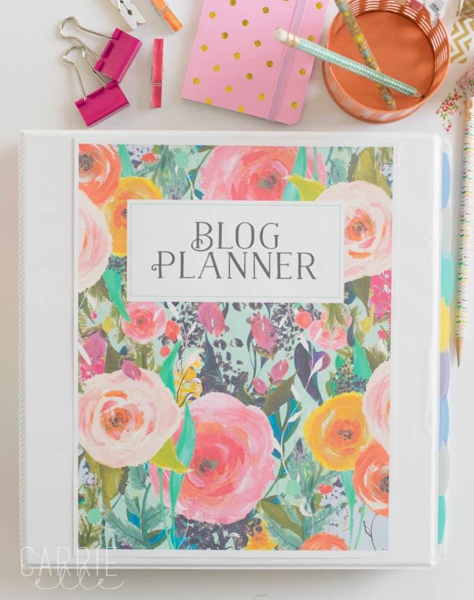 Printable Blog Planner Carrie Elle