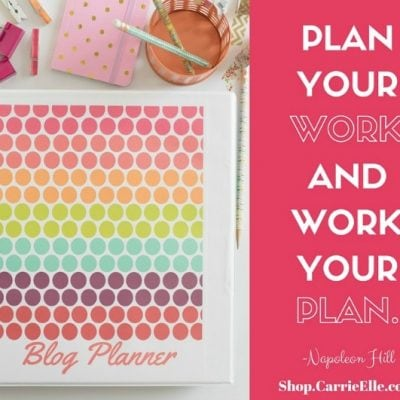 Printable Blog Planner: Get Your Blog Organized!