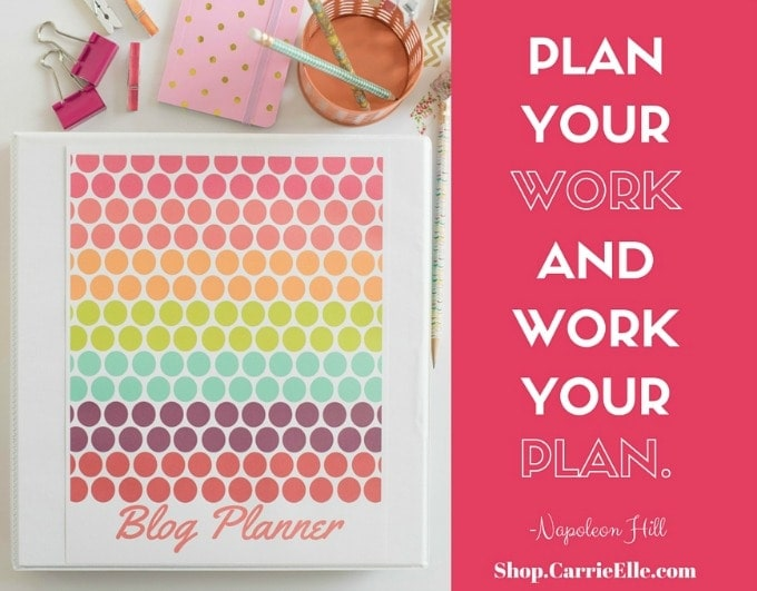 photo relating to Blog Planner Printable referred to as Printable Blog site Planner: Purchase Your Blog site Geared up! - Carrie Elle