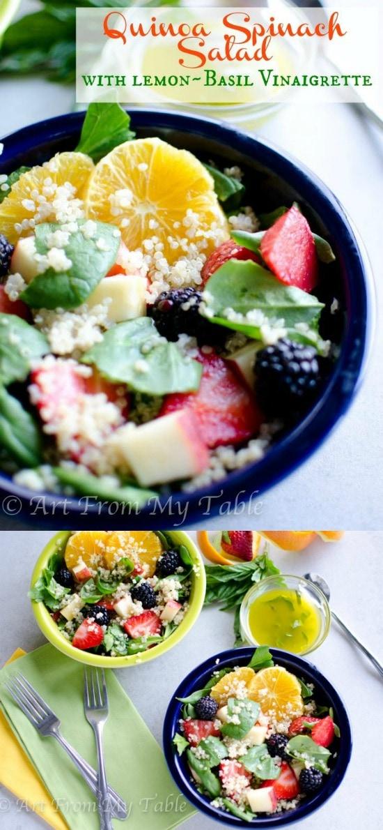 Spinach Quinoa Salad 21 Day Fix