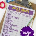 Chuck E. Cheese's Printable Scavenger Hunt (& Fun Giveaway!)