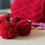 DIY Teacher Gift Ideas: Apple Pom Poms