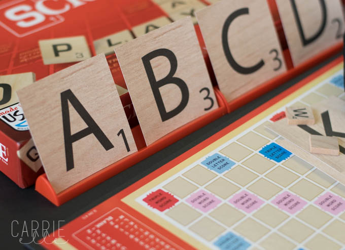 graphic regarding Scrabble Letters Printable called Scrabble Letter Printable Banner - Carrie Elle