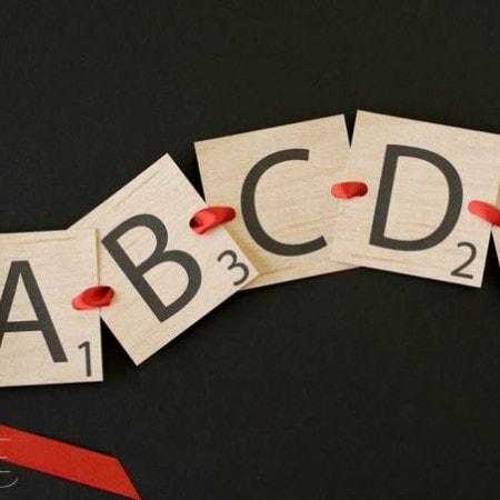 Printable Scrabble Letters Banner