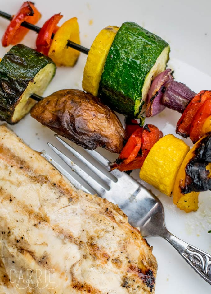 Grilled Rainbow Veggie Kabobs