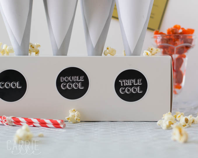 Pee-wee Printable Popcorn Cones