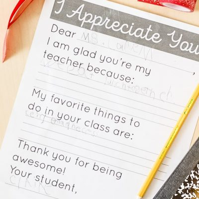 Teacher Appreciation Day Printable