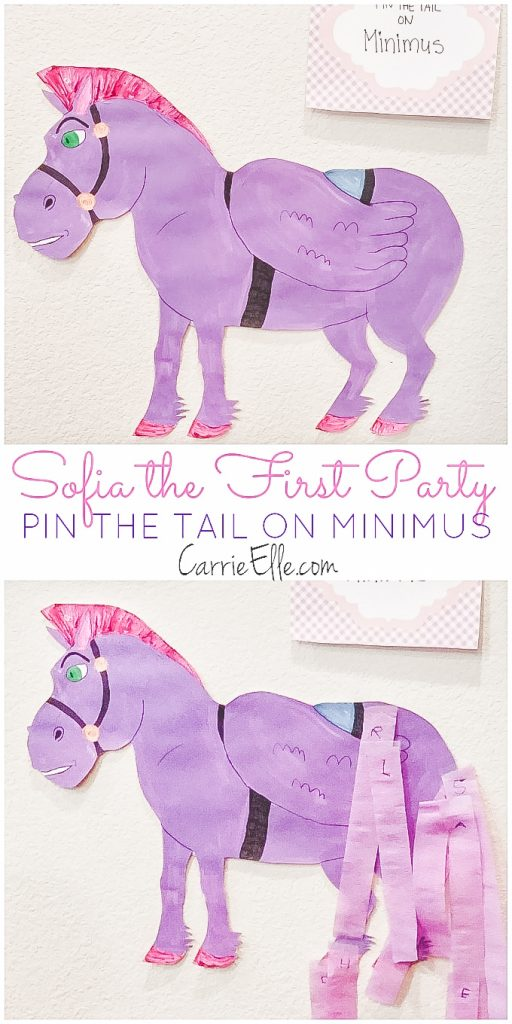 Pin-the-Tail-on-Minimus Sofia the First Party