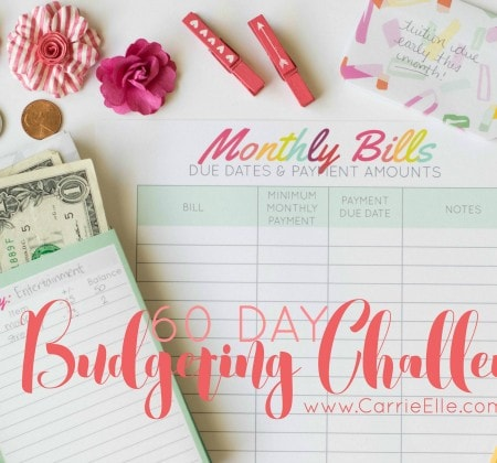 Budgeting Challenge Carrie Elle
