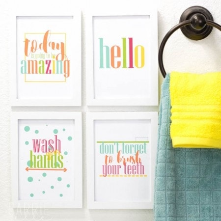 Free Bathroom Printables