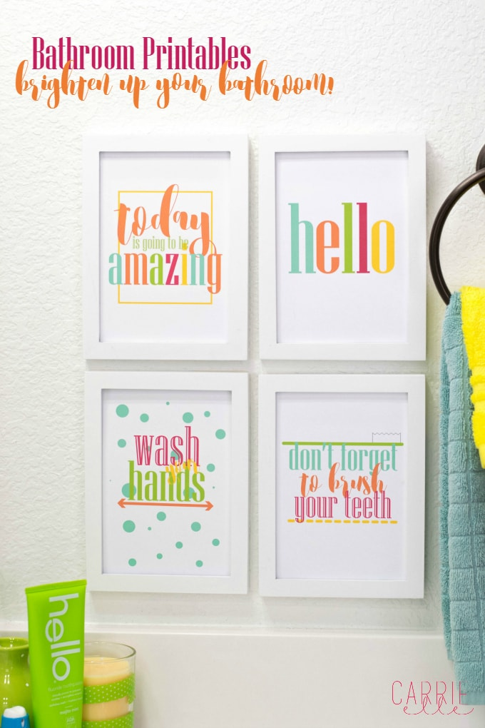 make your bathroom a happier place with these bright