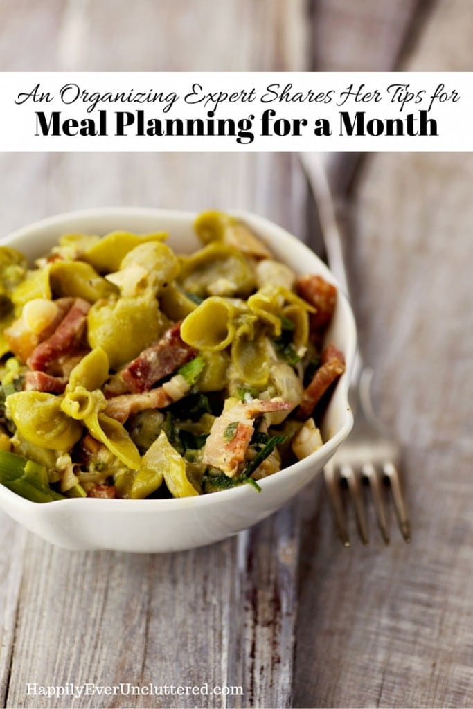 Meal Plan for a Month