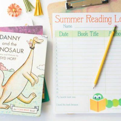 Printable Reading Log for Kids: Summer Reading