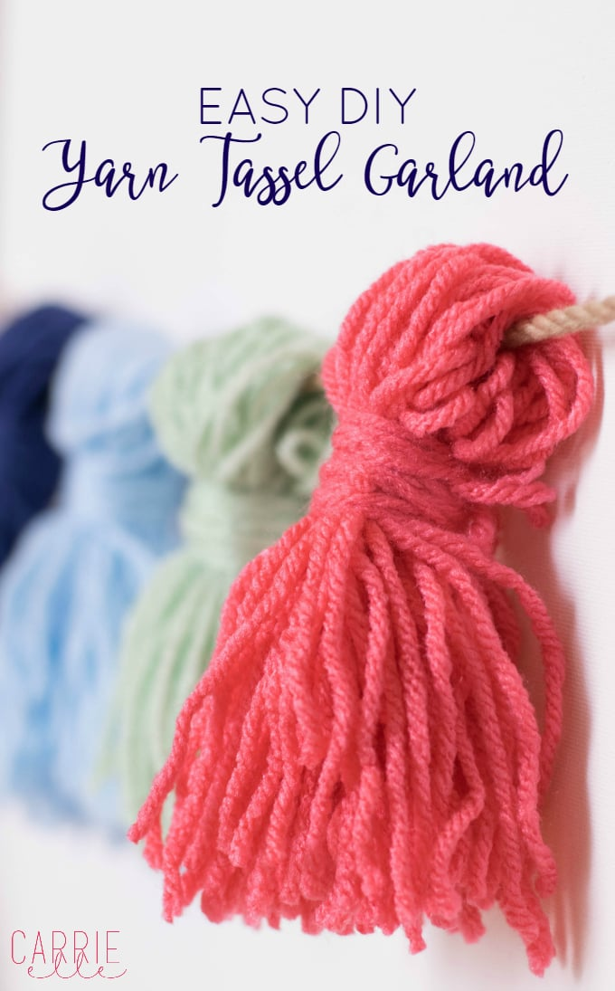 Easy Diy Yarn Tassel Garland Carrie Elle