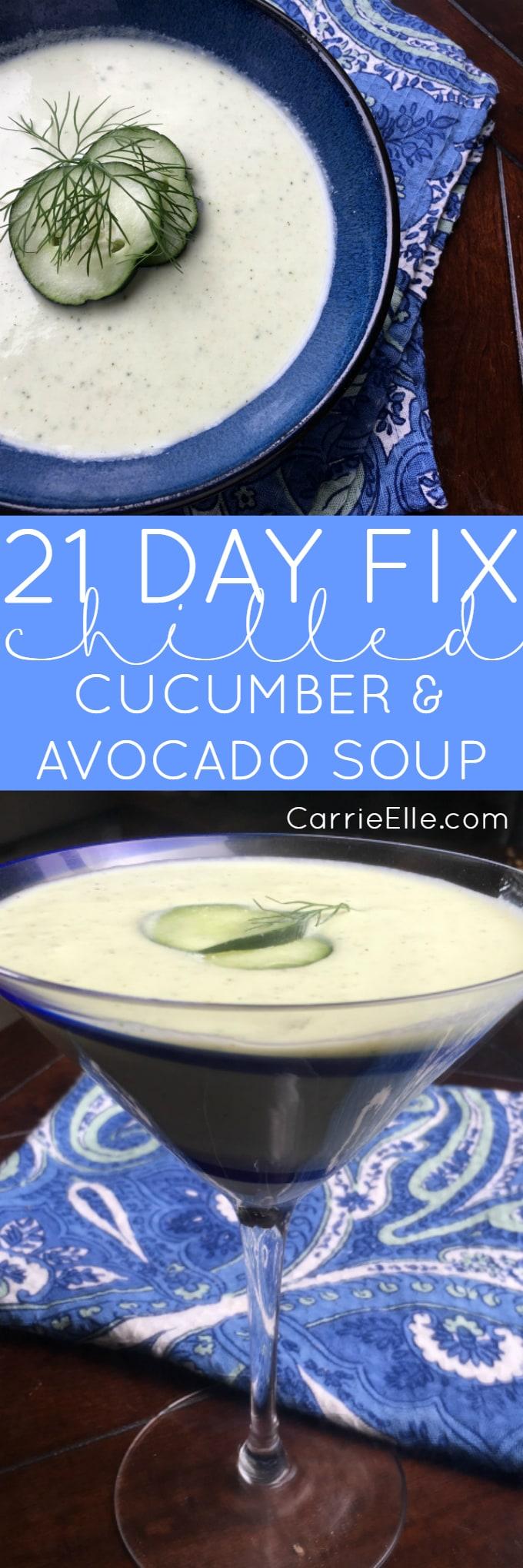 21 Day Fix Cucumber Avocado Soup