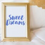 Sweet Dreams Printable Art for Nightstand