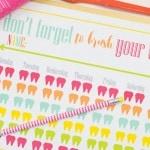 Brushing Teeth is FUN! Free Toothbrushing Printable for Kids