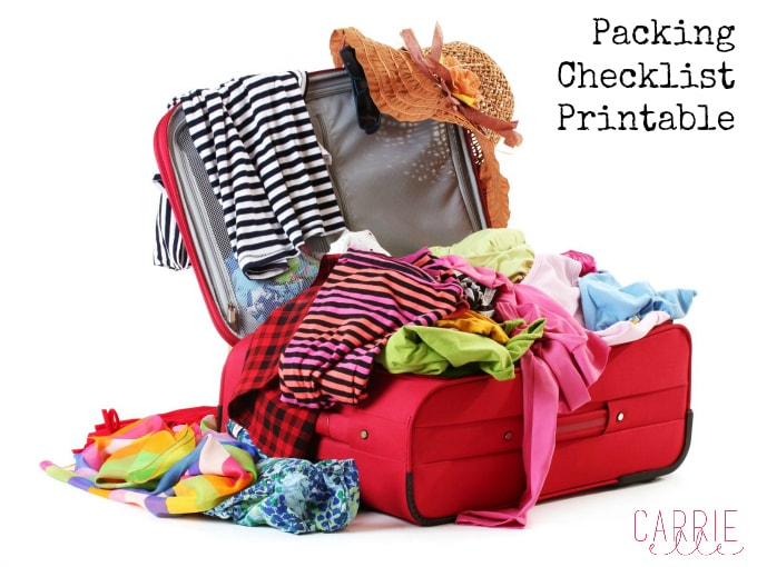 Packing Checklist Printable