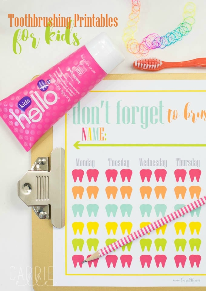 Toothbrushing Printables for Kids