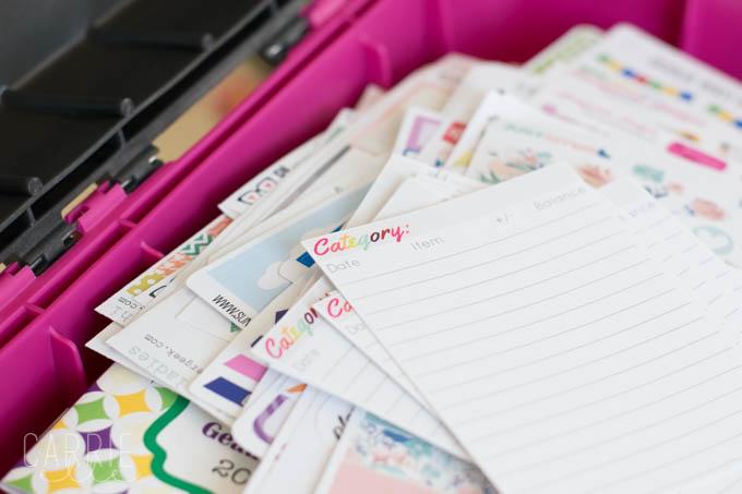 Planner Supplies Organization