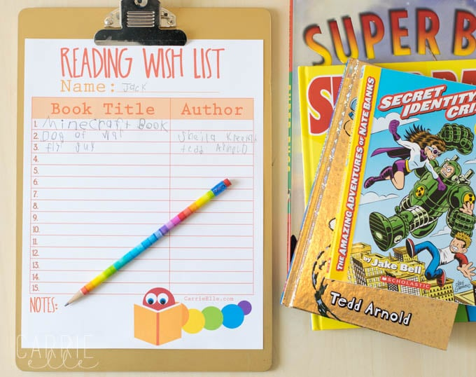 Reading Wish List for Kids