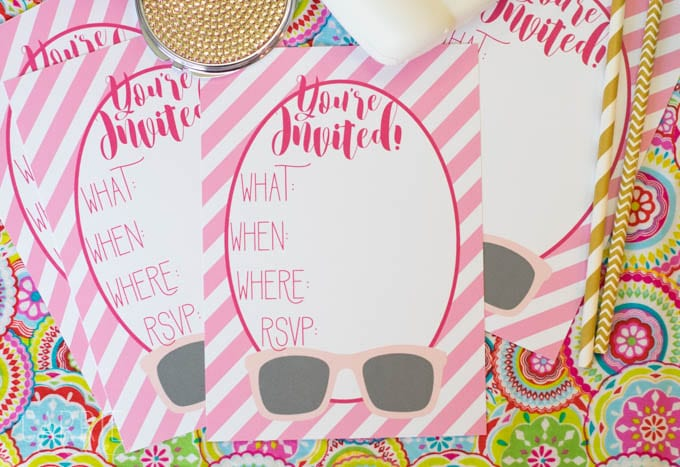 Free Pink Printable Party Invitations
