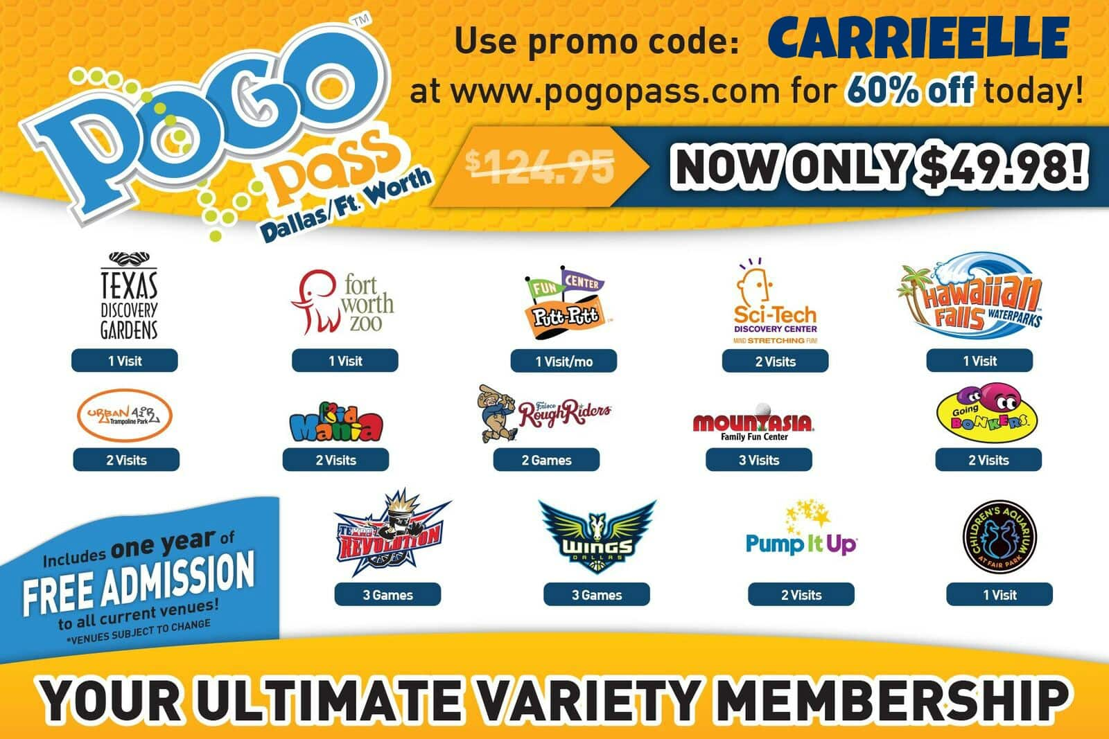 POGO Pass: HUGE Savings on Dallas Attractions