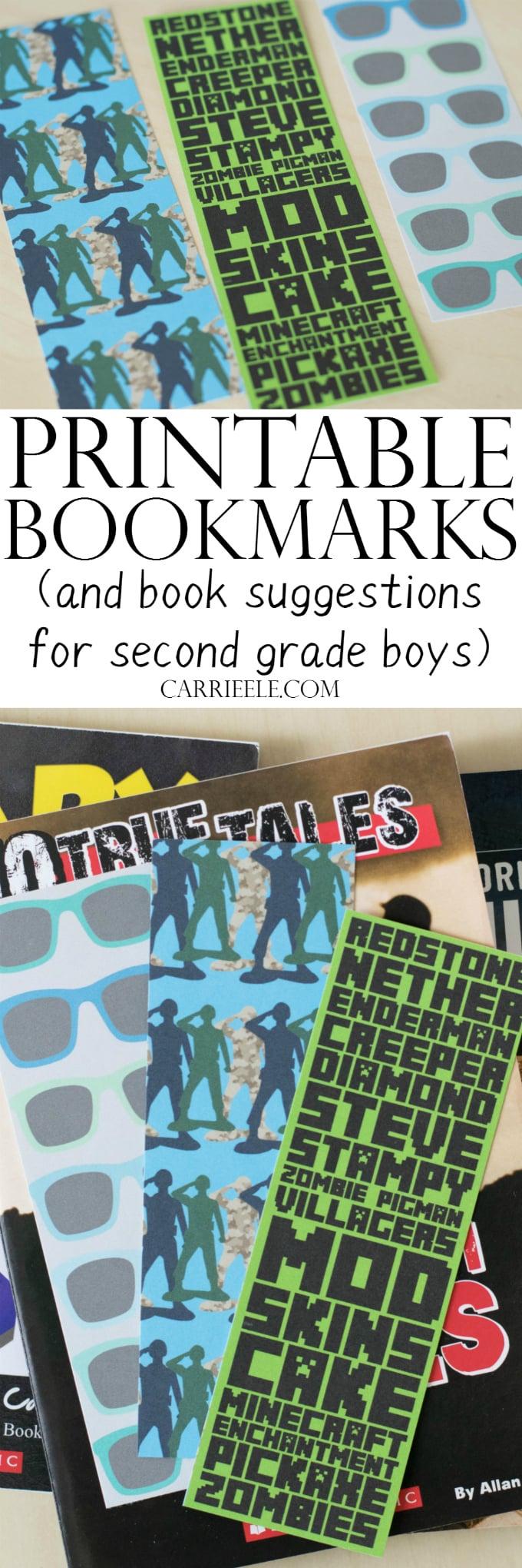 Printable Bookmarks for Boys