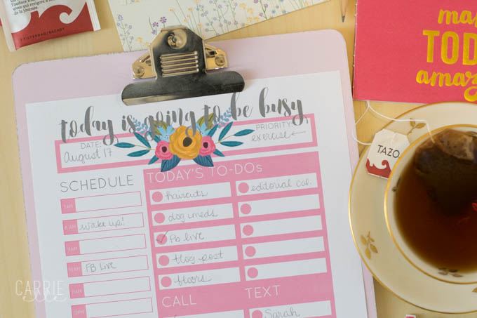 Printable Day Planner