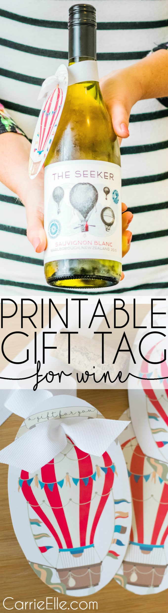 Printable Gift Tags for Wine