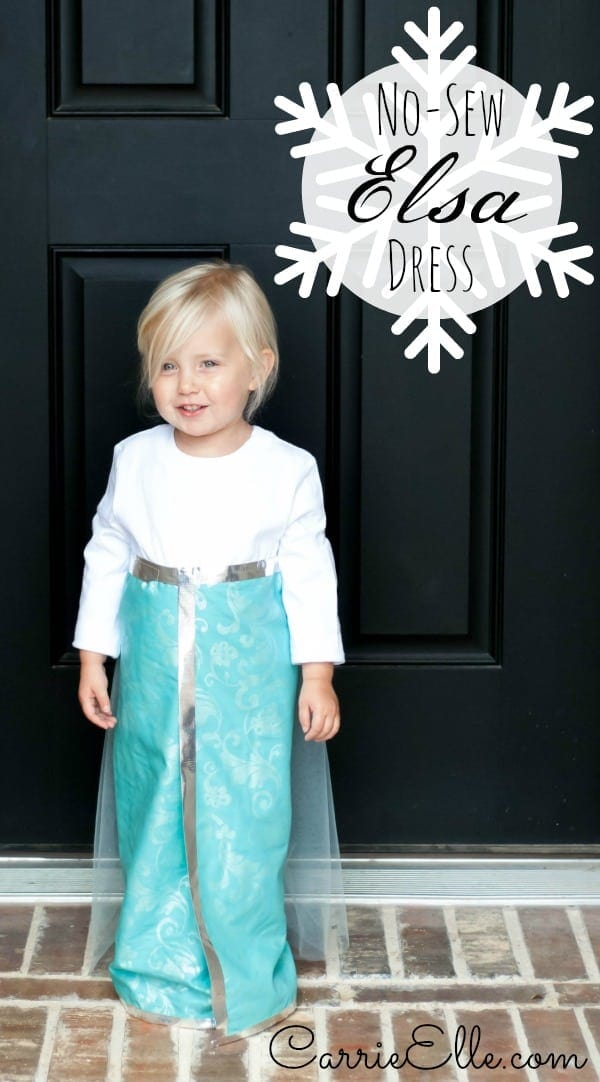 No-Sew Elsa Costume