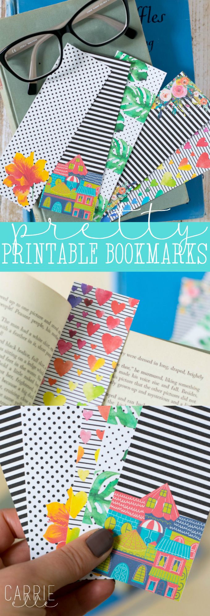 Pretty Printable Bookmarks