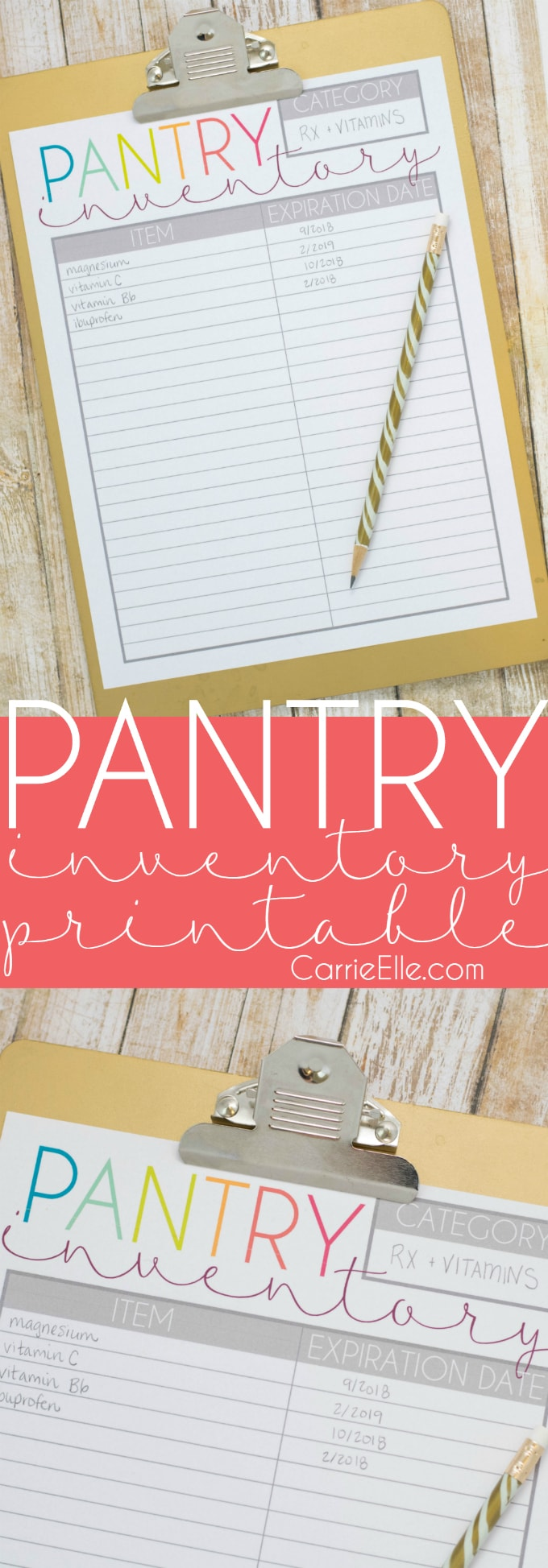 Printable Pantry Inventory List