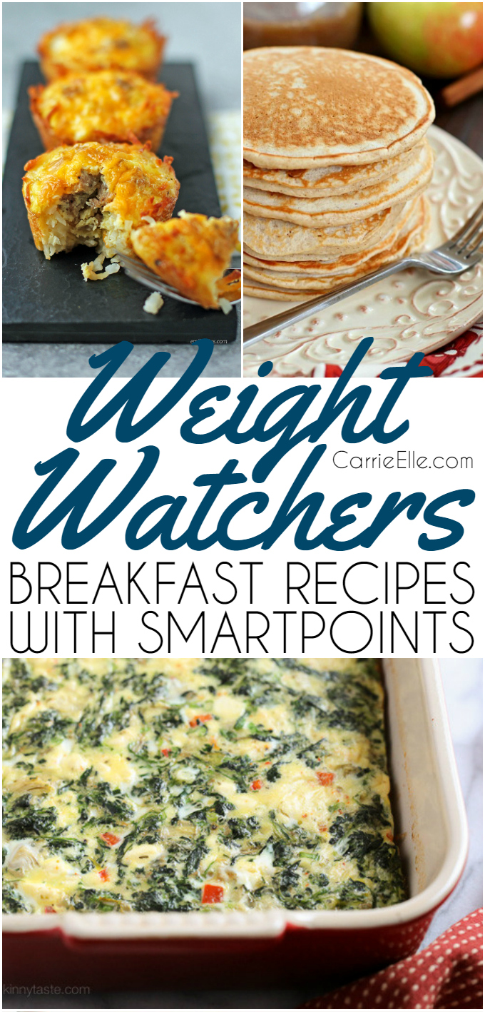weight watchers breakfast recipes with smartpoints - carrie elle