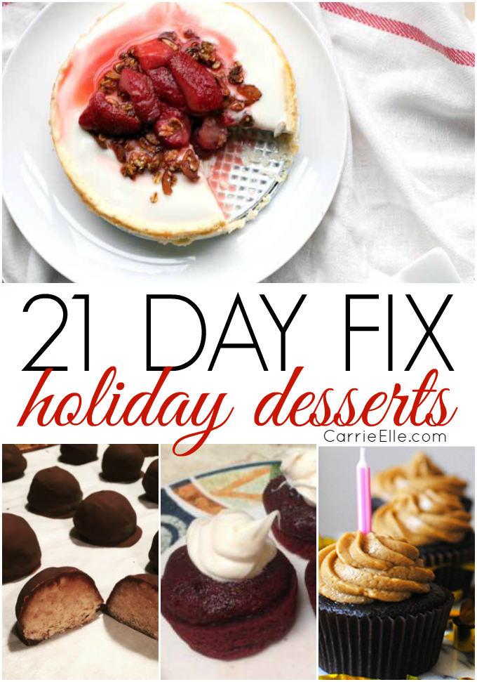 21 Day Fix Holiday Desserts