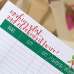 Printable Christmas Shopping List