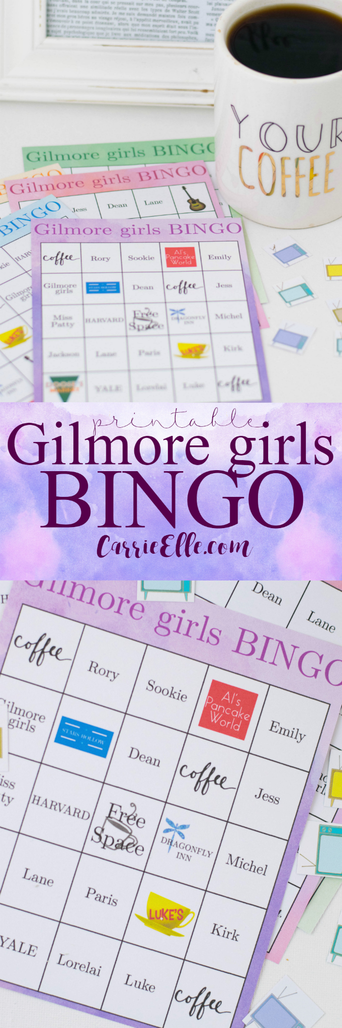 Printable Gilmore Girls Bingo