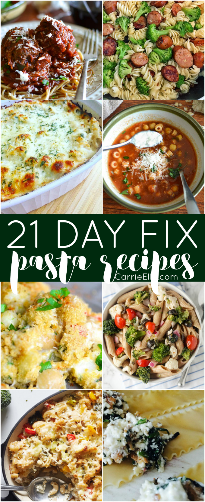 21 Day Fix Pasta Recipes