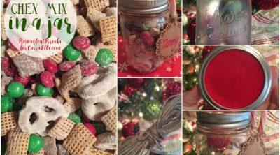 Chex Mix in a jar recipe