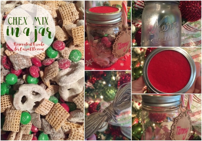 Chex Mix Christmas.Diy Christmas Gifts Chex Mix In A Jar Carrie Elle